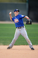 January 17, 2010:  Aaron Gowan (Madison, WI) of the Baseball Factory Great Lakes Team during the 2010 Under Armour Pre-Season All-America Tournament at Kino Sports Complex in Tucson, AZ.  Photo By Mike Janes/Four Seam Images