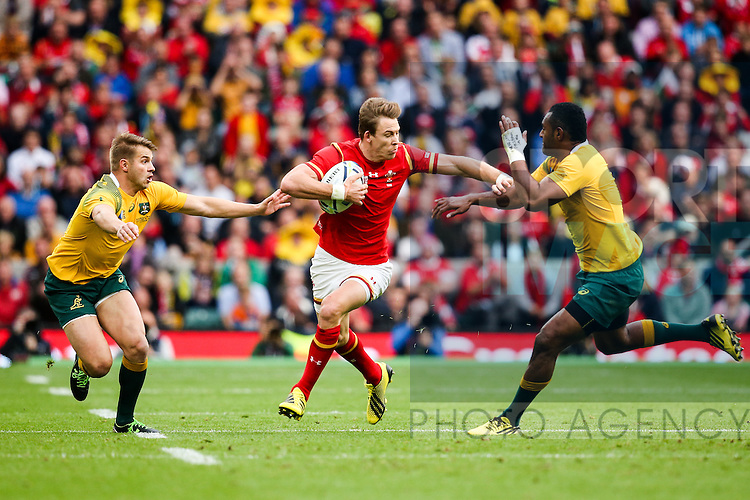 Wales' Liam Williams and Australia's Tevita Kuridrani - Rugby World Cup 2015 - Pool A - Australia v Wales - Twickenham Stadium - London- England - 10th October 2015 - Picture Charlie Forgham Bailey/Sportimage