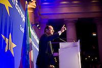 Il candidato Socialista alle prossime elezioni presidenziali francesi Francois Hollande durante la conferenza nazionale il Futuro dell'Europa..France's opposition Socialist Party (PS) candidate for the 2012 French presidential election, Francois Hollande during the 'Future of Europe' conference