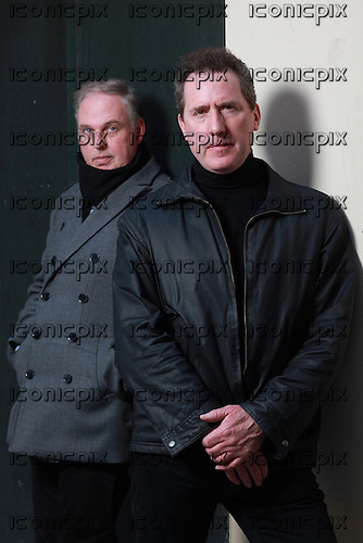 OMD - Orchestral Manoeuvres in the DARK<br />  - Paul Humphreys and Andy McCluskey - photosession in Paris France - 18 Mar 2013.  Photo credit: Manon  Violence/Dalle/IconicPix