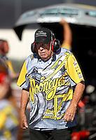 Nov 11, 2016; Pomona, CA, USA; NHRA funny car team owner Jim Dunn during qualifying for the Auto Club Finals at Auto Club Raceway at Pomona. Mandatory Credit: Mark J. Rebilas-USA TODAY Sports