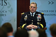 Washington, DC - June 23, 2016: General Mark A. Milley, 39th Army Chief of Staff, discusses military strategy during a forum at the Center for strategic and International Studies in the District of Columbia, June 23, 2016.   (Photo by Don Baxter/Media Images International)