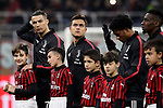 Cristiano Ronaldo and Paulo Dybala of Juventus look on during the line up before the Coppa Italia match at Giuseppe Meazza, Milan. Picture date: 13th February 2020. Picture credit should read: Jonathan Moscrop/Sportimage