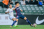 Hoi Li Ngai of SC Kitchee (r) is chased by Auckland City Midfielder Clayton Lewis (l) during the Nike Lunar New Year Cup 2017 match between SC Kitchee (HKG) and Auckland City FC (NZL) on January 31, 2017 in Hong Kong, Hong Kong. Photo by Marcio Rodrigo Machado / Power Sport Images