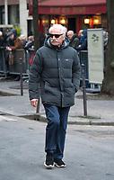January 12 2018, Paris, France - Funerals of Singer France Gall in Montmartre Cemetery in Paris. Photographer Yann Arthus Bertrand is present. # OBSEQUES DE FRANCE GALL AU CIMETIERE DE MONTMARTRE