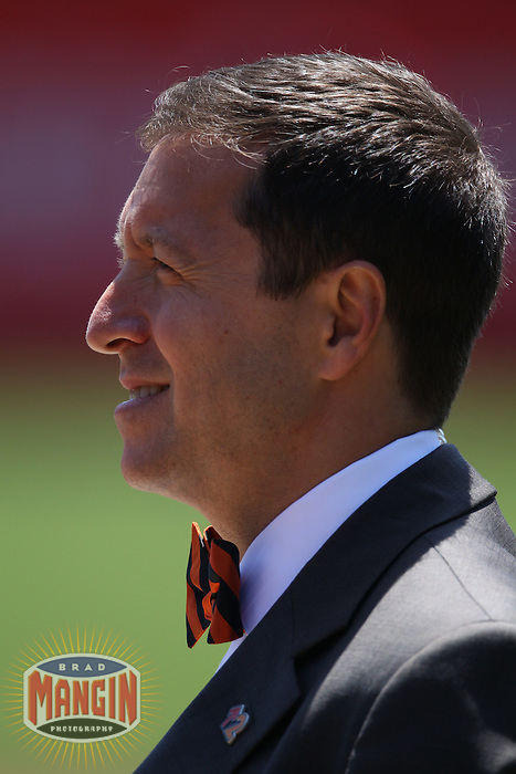 SAN FRANCISCO - JUNE 25:  FOX television reporter Ken Rosenthal watches batting practice before the game between the Cleveland Indians and the San Francisco Giants at AT&T Park on June 25, 2011 in San Francisco, California. Photo by Brad Mangin