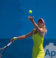 DANIELA HANTUCHOVA..Tennis - Apia Sydney International -  Sydney 2013 -  Olympic Park - Sydney - NSW - Australia.Monday 7th January  2013. .© AMN Images, 30, Cleveland Street, London, W1T 4JD.Tel - +44 20 7907 6387.mfrey@advantagemedianet.com.www.amnimages.photoshelter.com.www.advantagemedianet.com.www.tennishead.net