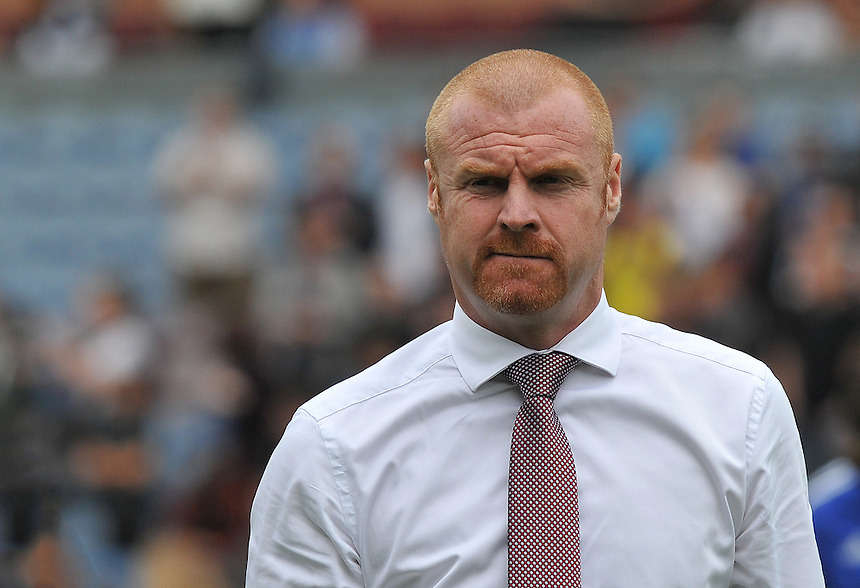 Burnley's Manager Sean Dyche<br /> <br /> Photographer Dave Howarth/CameraSport<br /> <br /> Football - The Football League Sky Bet Championship - Burnley v Brentford - Saturday 22nd August 2015 - Turf Moor - Burnley<br /> <br /> &copy; CameraSport - 43 Linden Ave. Countesthorpe. Leicester. England. LE8 5PG - Tel: +44 (0) 116 277 4147 - admin@camerasport.com - www.camerasport.com