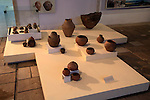 Exhibition of prehistoric Thracian pottery finds in Kazanlak museum, Bulgaria, eastern Europe