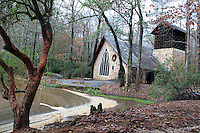 Stock photo: charming Chapel in the woods of callaway gardens Georgia US.