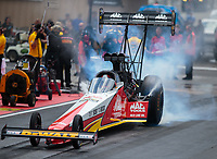 Jul 22, 2018; Morrison, CO, USA; NHRA top fuel driver Doug Kalitta during the Mile High Nationals at Bandimere Speedway. Mandatory Credit: Mark J. Rebilas-USA TODAY Sports