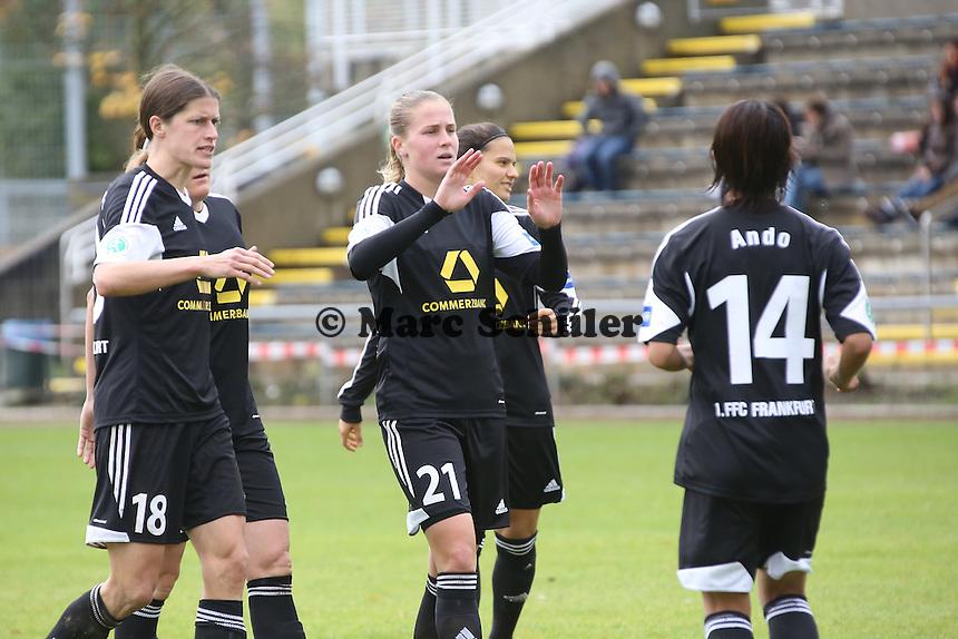 Torjubel mit Kozue Ando (FFC)  - 1. FFC Frankfurt vs. VfL Sindelfingen