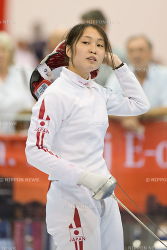 Miho Morioka (JPN),<br /> AUGUST 5, 2013 - Fencing :<br /> World Fencing Championships Budapest 2013, Women's Individual Epee Qualifications at Syma Hall in Budapest, Hungary. (Photo by Enrico Calderoni/AFLO SPORT) [0391]