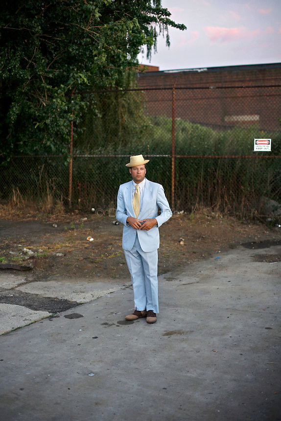 RIch Awn during a rehearsal for a film in Brooklyn.