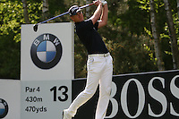 Robert Karlsson tees off on the 13th hole during the 3rd round of the 2008 BMW PGA Championship at Wentworth Club, Surrey, England 24th May 2008 (Photo by Eoin Clarke/GOLFFILE)