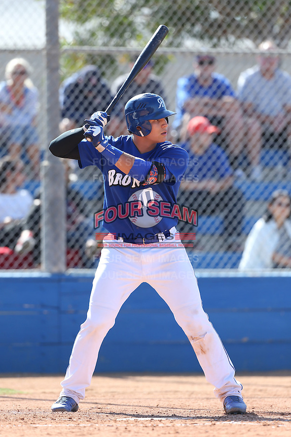 Alex Jackson (10) of Rancho Bernardo High School bats against Westview High School at Rancho Bernardo High School on May 21, 2014 in San Diego, California.  (Larry Goren/Four Seam Images)