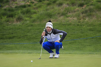 Ricardo Gouveia (POR) on the 1st green during Round 1 of the Open de Espana 2018 at Centro Nacional de Golf on Thursday 12th April 2018.<br /> Picture:  Thos Caffrey / www.golffile.ie<br /> <br /> All photo usage must carry mandatory copyright credit (&copy; Golffile | Thos Caffrey)