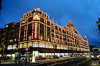 Harrods at night, Knightsbridge