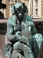 Hygiea-Brunnen im Rathaus-Innenhof erbaut 1895 von Joseph von Kramer zum Gedenken sn die Cholerepedemie von 1892, Hamburg, Deutschland<br /> Hygiea-Brunnen in the townhall courtyard builtt 1895 by Joseph von Kramer,  Hamburg, Germany