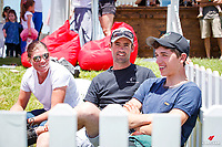 IRL-Cathal Daniels with Jonathan Paget and Bundy Philpott, during the Auckland Council CCI2* Cross Country. 2018 NZL-Puhinui International Horse Trials. Auckland. Saturday 8 December. Copyright Photo: Libby Law Photography