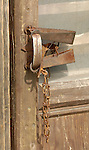 Trap door handle - The Forks Roadhouse. - Petersville Road 20 miles from Trapper Creek.    Bob Gathany photo.