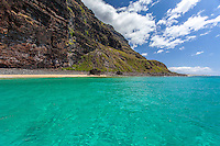 View of Na Pali Coast, Kaua'i, from the water