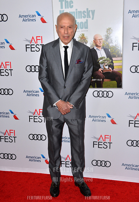 LOS ANGELES, CA. November 10, 2018: Alan Arkin at the AFI Fest 2018 world premiere of &quot;The Kominsky Method&quot; at the TCL Chinese Theatre.<br /> Picture: Paul Smith/Featureflash