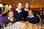 Ellen Gowran, Amy Partington, Leah Bloch and Marvel Vaireaux from Bunscoil an Chlochair Dingle at the Chapter 23 Credit Union Schools Quiz finals at Ballyroe Heights Hotel on Sunday