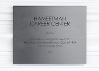 Hameetman Career Center plaques and signage, July 12, 2016.<br />