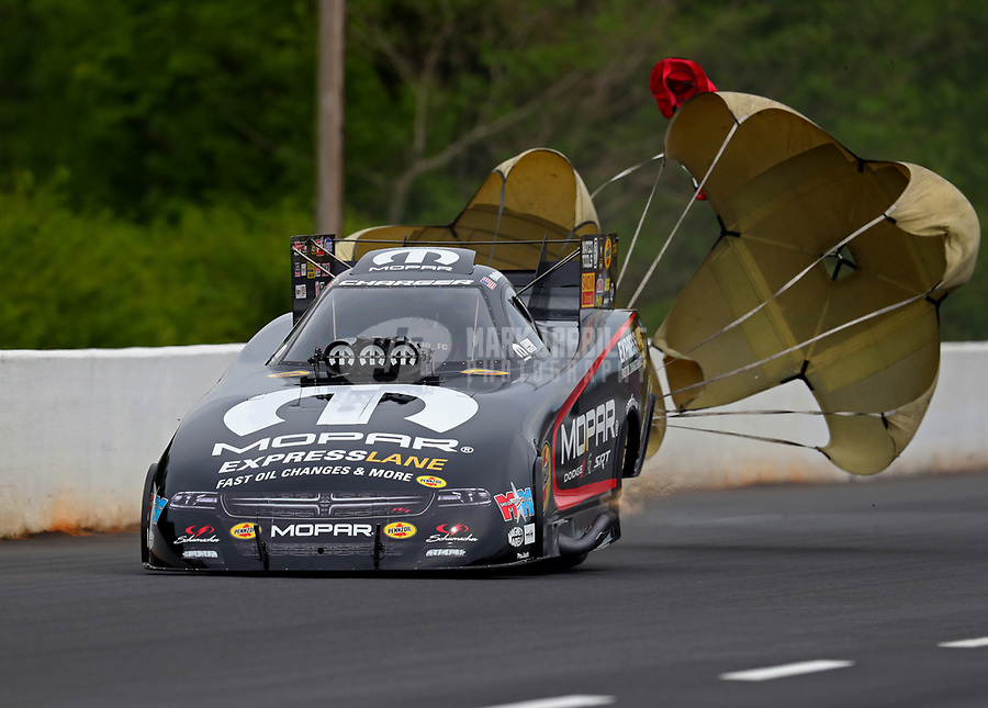 May 5, 2018; Commerce, GA, USA; NHRA funny car driver Matt Hagan during qualifying for the Southern Nationals at Atlanta Dragway. Mandatory Credit: Mark J. Rebilas-USA TODAY Sports