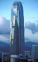 IFC II, one of the highest buildings in the world, with other skylines at the main business district in Hong Kong..
