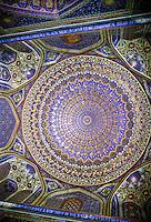 Dome of Tilla-Kari Madrassah, Tillya Kori Madrasa,Tilla Kari, Tilya-Kori, Madrasah in Registan Square, Samarkand, Uzbekistan
