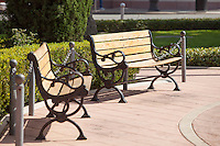 Park Benches at Old Towne Orange Historic District