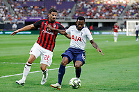 Minneapolis, Minnesota - July 31, 2018: Tottenham Hotspur and AC Milan play in a 2018 International Champions Cup match at US Bank Stadium.