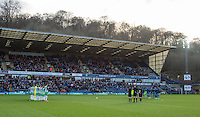 Yeovil & Wycombe players take part in a minutes applause for Graham Taylor who passed away during the Sky Bet League 2 match between Wycombe Wanderers and Yeovil Town at Adams Park, High Wycombe, England on 14 January 2017. Photo by Andy Rowland / PRiME Media Images.