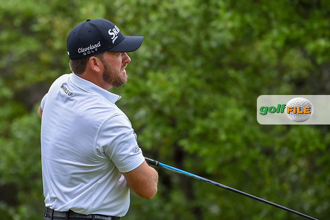 Graeme McDowell (NIR) watches his tee shot on 1 during day 4 of the Valero Texas Open, at the TPC San Antonio Oaks Course, San Antonio, Texas, USA. 4/7/2019.<br /> Picture: Golffile | Ken Murray<br /> <br /> <br /> All photo usage must carry mandatory copyright credit (© Golffile | Ken Murray)
