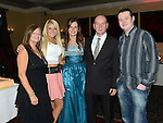 Sarah Byrne celebrating her 21st birthday in the Westcourt hotel with parents Richard and Valerie, brother Ritchie and sister Jessica. Photo:Colin Bell/pressphotos.ie