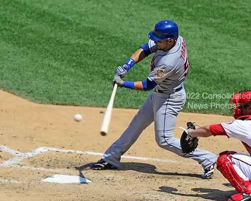 New York Mets centerfielder Andres Torres (56) grounds out in the eighth inning against the Washington Nationals at Nationals Park in Washington, D.C. on Thursday, July 19, 2012.  The Mets won the game 9 - 5..Credit: Ron Sachs / CNP.(RESTRICTION: NO New York or New Jersey Newspapers or newspapers within a 75 mile radius of New York City)