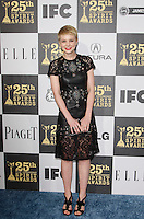 US actress Carey Mulligan arrives at the 25th Independent Spirit Awards held at the Nokia Theater in Los Angeles on March 5, 2010. The Independent Spirit Awards is a celebration honoring films made by filmmakers who embody independence and originality..Photo by Nina Prommer/Milestone Photo