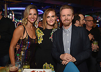 """HOLLYWOOD - SEPTEMBER 24: Jill Latiano, Emily Deschanel, David Hornsby attend the post-party at Dave & Busters following the  premiere of FXX's """"It's Always Sunny in Philadelphia"""" Season 14 on September 24, 2019 in Hollywood, California. (Photo by Stewart Cook/FXX/PictureGroup)"""