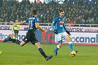 Fabian Ruiz of Napoli  during the  italian serie a soccer match,Atalanta - SSC Napoli at  the Atleti azure d'italia   stadium in Bergamo Italy , December 03, 2018