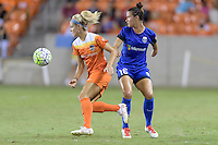Houston, TX - Sunday Sept. 25, 2016: Rachel Daly, Carson Pickett during a regular season National Women's Soccer League (NWSL) match between the Houston Dash and the Seattle Reign FC at BBVA Compass Stadium.