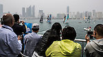 Competitors in action during Day 3 Act 3, Extreme Sailing Series Qingdao 2015 at Qingdao International Sailing Centre on May 1, 2015 in Qingdao, China. Photo by Xaume Olleros / Power Sport Images