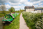 The Barge Inn on the Kennet and Avon canal, Honey Street, Alton Barnes, Vale of Pewsey, Wiltshire, England