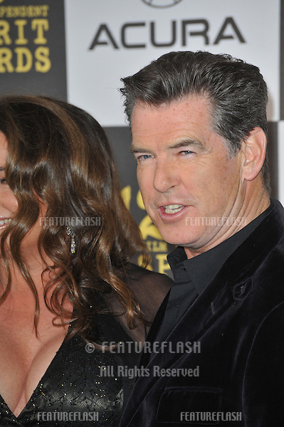 Pierce Brosnan at the 25th Anniversary Film Independent Spirit Awards at the L.A. Live Event Deck in downtown Los Angeles..March 5, 2010  Los Angeles, CA.Picture: Paul Smith / Featureflash