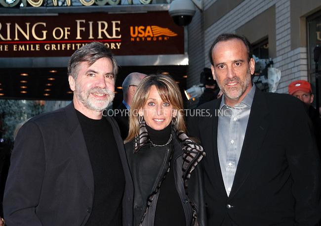 WWW.ACEPIXS.COM . . . . . ....NEW YORK, APRIL 13, 2005....Dan Klores, Bonnie Hammer and Ron Bergen at the 'Ring of Fire the Emile Griffith Story' premiere held at the Beekman Theater.....Please byline: KRISTIN CALLAHAN - ACE PICTURES.. . . . . . ..Ace Pictures, Inc:  ..Craig Ashby (212) 243-8787..e-mail: picturedesk@acepixs.com..web: http://www.acepixs.com