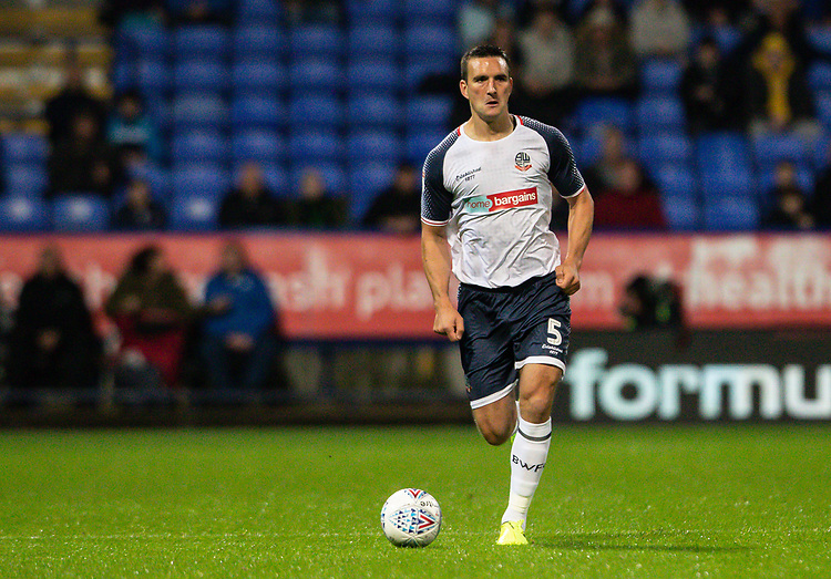 Bolton Wanderers' Jack Hobbs breaks<br /> <br /> Photographer Andrew Kearns/CameraSport<br /> <br /> The EFL Sky Bet League One - Bolton Wanderers v Blackpool - Monday 7th October 2019 - University of Bolton Stadium - Bolton<br /> <br /> World Copyright © 2019 CameraSport. All rights reserved. 43 Linden Ave. Countesthorpe. Leicester. England. LE8 5PG - Tel: +44 (0) 116 277 4147 - admin@camerasport.com - www.camerasport.com