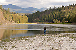 Angler at the Kootenai River
