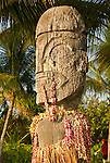 Carved wooden statue, Kona Village, Hawaii