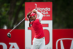 CHON BURI, THAILAND - FEBRUARY 16:  Jenny Shin of USA tees off on the 15th green during day one of the LPGA Thailand at Siam Country Club on February 16, 2012 in Chon Buri, Thailand.  Photo by Victor Fraile / The Power of Sport Images
